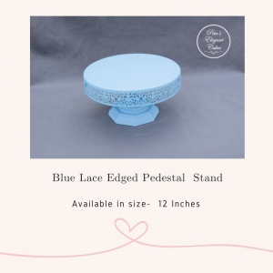 Cake Stand Hire Brisbane, Blue Laced Edge Pedestal Cake Stand