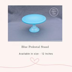 Cake Stand Hire Brisbane, Blue Pedestal Cake Stand