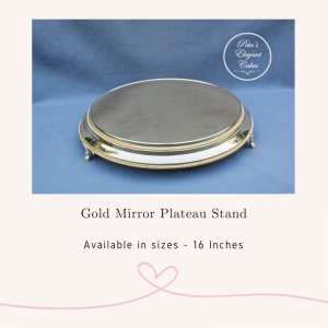 Cake Stand Hire Brisbane, Gold Mirror Plateau Cake Stand