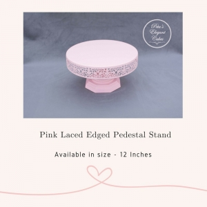 Cake Stand Hire Brisbane, Pink Laced Edge Pedestal Cake Stand
