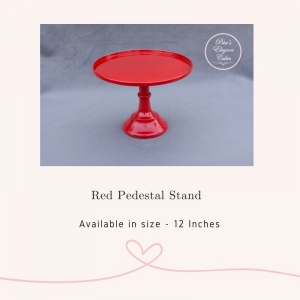 Cake Stand Hire Brisbane, Red Pedestal Cake Stand