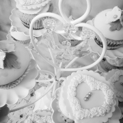 Wedding Special Occasion Cup Cakes, Wedding Hearts & Flowers on Cupcakes