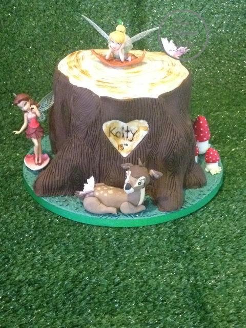 Tinkerbell Cake & Tree Stump, Bambi