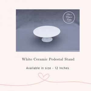 Cake Stand Hire Brisbane,White Ceramic Pedestal Stand
