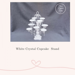 Cake Stand Hire Brisbane, White Crystal Cupcake Stand