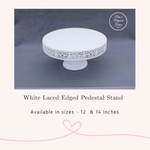 Cake Stand Hire Brisbane,White Laced Edge Pedestal Cake Stand